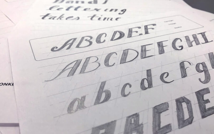 Practice Hand Lettering / Freebie Friday