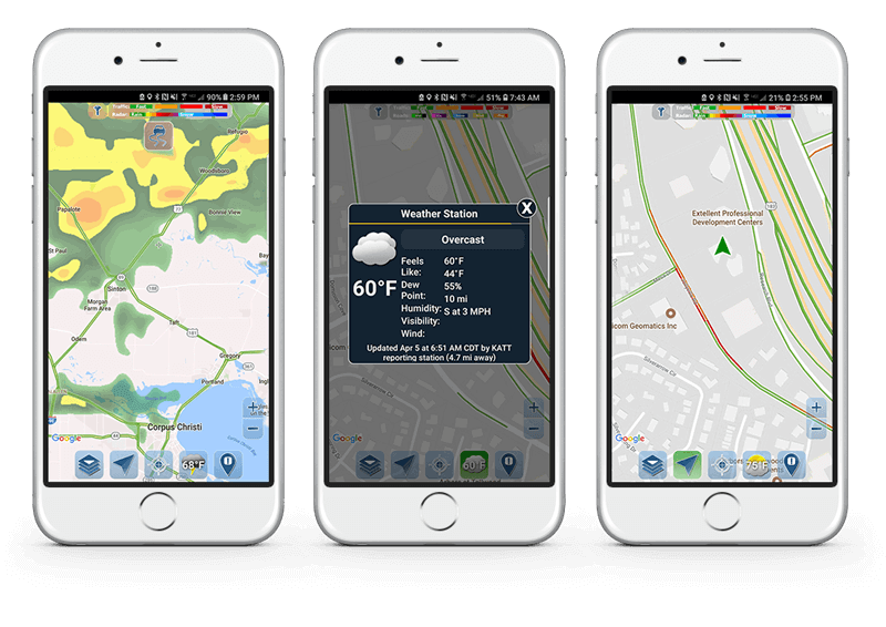 Traffic Spotter app with map overlays