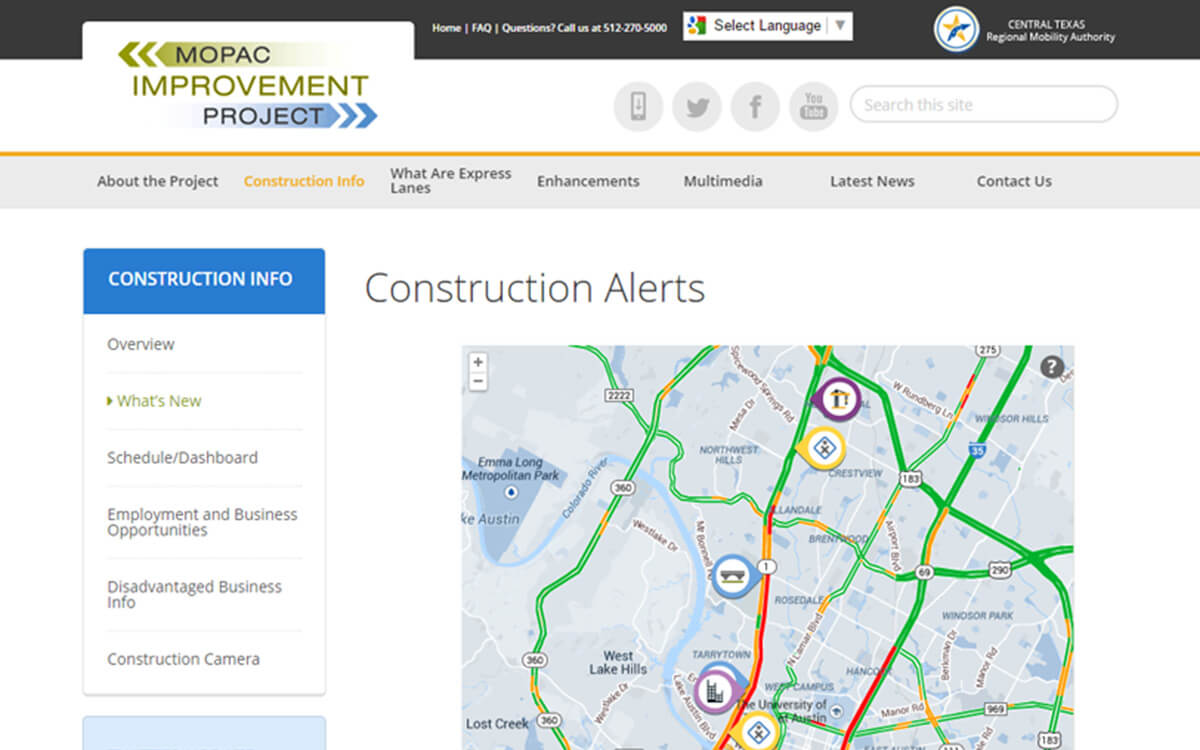 MoPac Expressway Website Redesign Project
