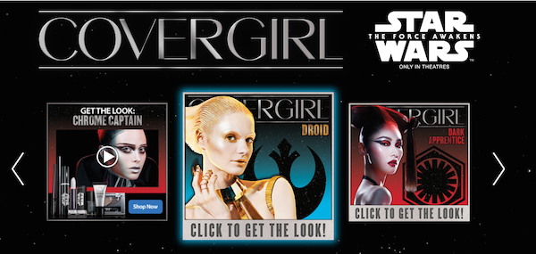 covergirl star wars marketing promotion