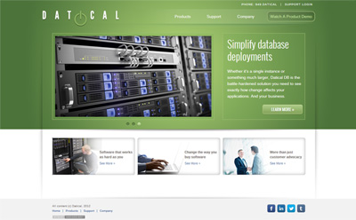 Datical landing page
